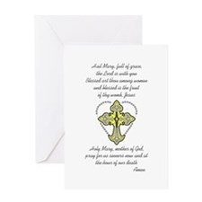 HAIL MARY ROSARY Greeting Cards