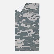 Digital Camouflage Beach Towel