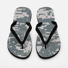 Digital Camouflage Flip Flops