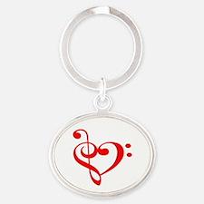 TREBLE MUSIC HEART Keychains