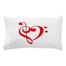 TREBLE MUSIC HEART Pillow Case