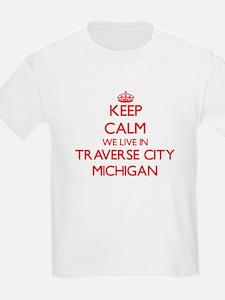 Keep calm we live in Traverse City Michiga T-Shirt