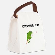 Custom Cartoon Chameleon Canvas Lunch Bag