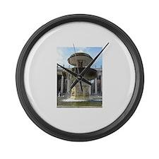 Italy Rome Vatican fountain Large Wall Clock