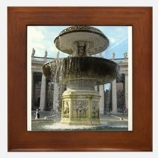 Italy Rome Vatican fountain Framed Tile
