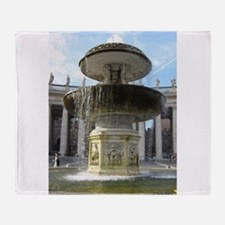 Italy Rome Vatican fountain Throw Blanket