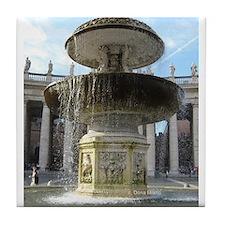 Italy Rome Vatican fountain Tile Coaster