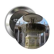 """Italy Rome Vatican fountain 2.25"""" Button"""