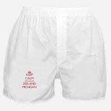 Keep calm we live in Zeeland Michigan Boxer Shorts
