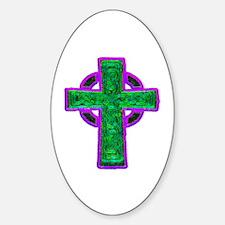 Celtic Cross Oval Decal