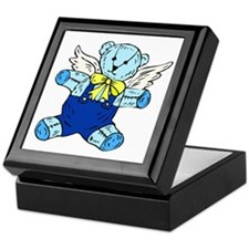 Blue Angel Teddy Bear Keepsake Box