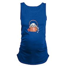 SPRING BUNNY IN BASKET Maternity Tank Top