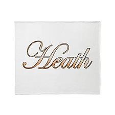 Gold Heath Throw Blanket
