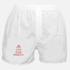 Keep calm we live in Blaine Minnesota Boxer Shorts