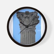 Italy Pompeii column Wall Clock