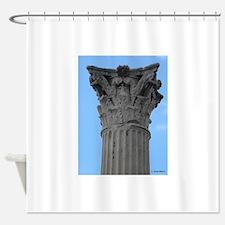 Italy Pompeii column Shower Curtain