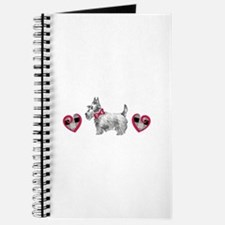 SCOTTIE PLAID HEARTS Journal
