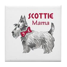 SCOTTIE MAMA Tile Coaster
