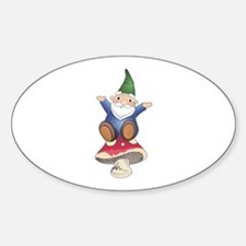 GNOME ON MUSHROOM Decal