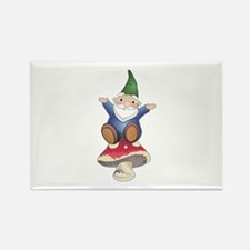 GNOME ON MUSHROOM Magnets