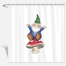 GNOME ON MUSHROOM Shower Curtain