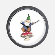 GNOME ON MUSHROOM Wall Clock