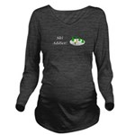 Ski Addict Long Sleeve Maternity T-Shirt