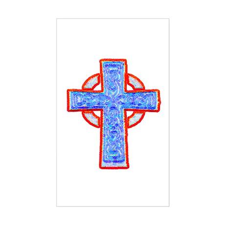 Celtic Cross Rectangle Sticker