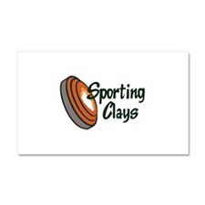 SPORTING CLAYS Car Magnet 20 x 12
