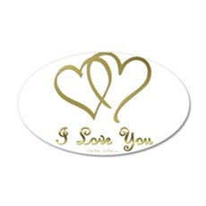 Entwined Gold Hearts Wall Decal