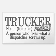 Trucker Definition Decal
