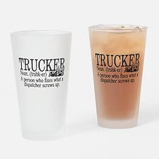 Trucker Definition Drinking Glass