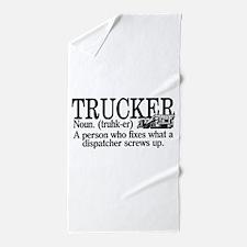 Trucker Definition Beach Towel