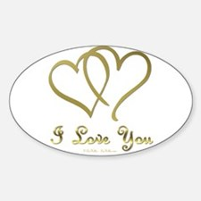 Entwined Gold Hearts Decal