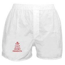 Keep calm we live in Crosby Minnesota Boxer Shorts
