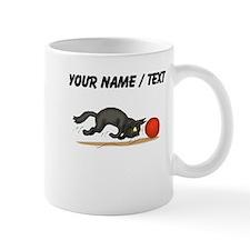 Custom Cat With Ball Of Yarn Mugs