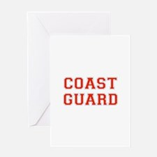COAST GUARD FULL CHEST Greeting Cards
