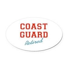 COAST GUARD RETIRED Oval Car Magnet