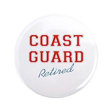 """COAST GUARD RETIRED 3.5"""" Button"""