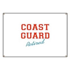 COAST GUARD RETIRED Banner