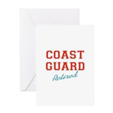 COAST GUARD RETIRED Greeting Cards