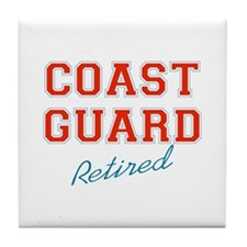 COAST GUARD RETIRED Tile Coaster
