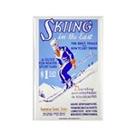WINTER SKIING fridge magnet