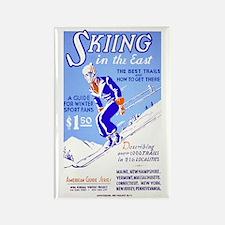 WINTER SKIING fridge magnet