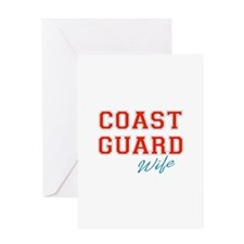 COAST GUARD WIFE Greeting Cards