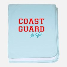 COAST GUARD WIFE baby blanket