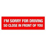 Tailgating Humor Bumper Sticker