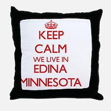 Keep calm we live in Edina Minnesota Throw Pillow