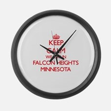 Keep calm we live in Falcon Heigh Large Wall Clock