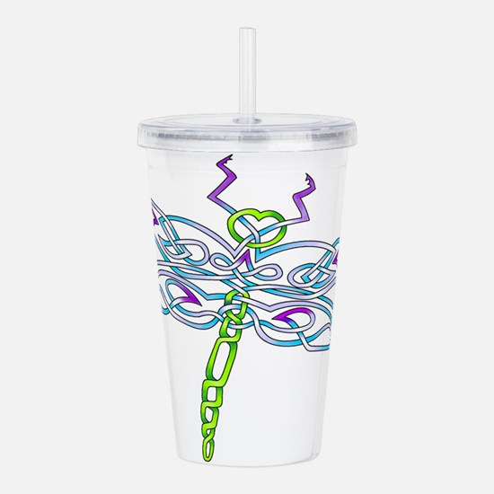 Dragonfly Acrylic Double-wall Tumbler